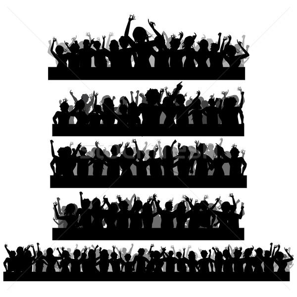 Stock photo: Cheering Crowd