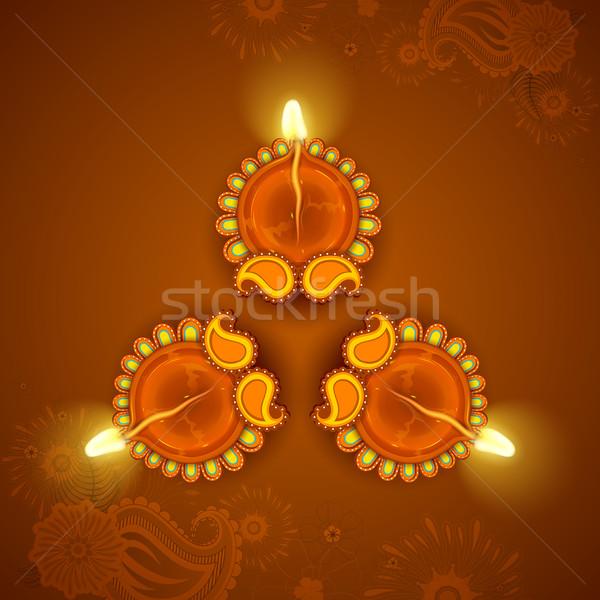Decorated Diya for Diwali Holiday Stock photo © vectomart