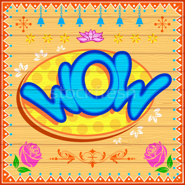 Wow Illustration indian LKW Stil Blume Stock foto © vectomart