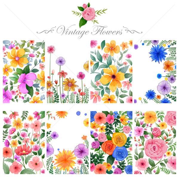 Aquarela floral propósito ilustração natureza projeto Foto stock © vectomart