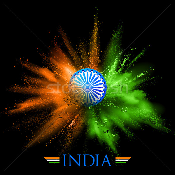 India Background with color blast Stock photo © vectomart