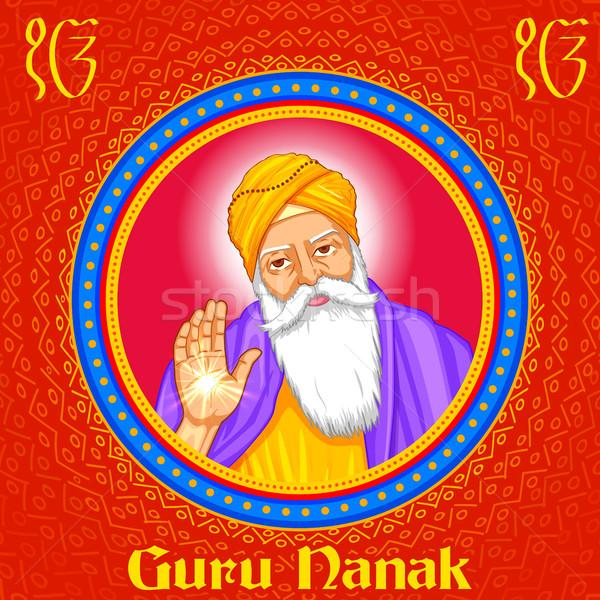 Happy Guru Nanak Jayanti festival of Sikh celebration background Stock photo © vectomart