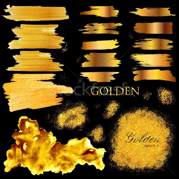 Lucido tessitura oro illustrazione vernice Foto d'archivio © vectomart