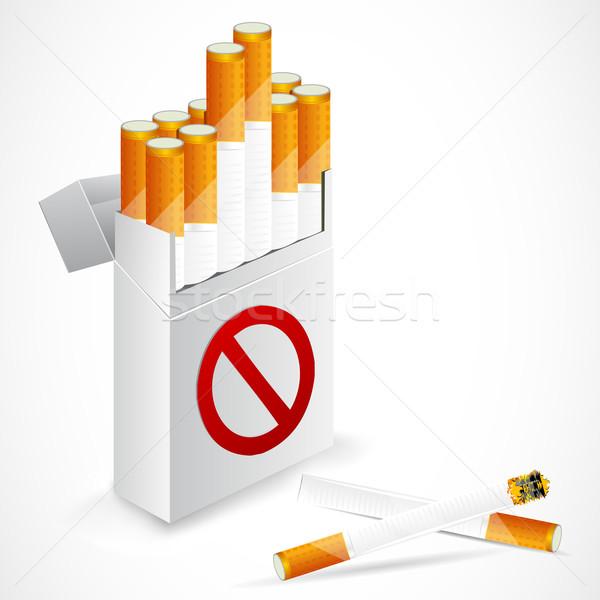 сигарету окна иллюстрация символ фон Сток-фото © vectomart