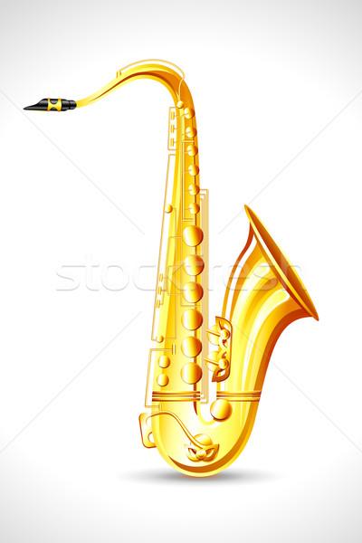 Сток-фото: саксофон · иллюстрация · аннотация · фон · рок