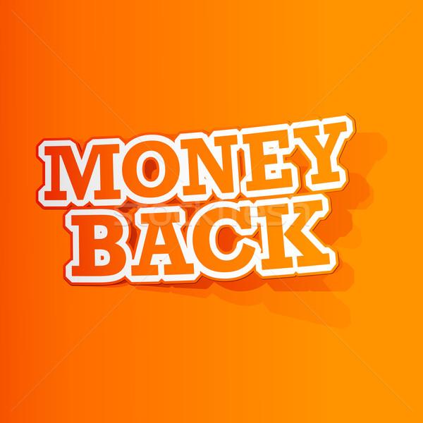 Money Back Sticker Stock photo © vectomart