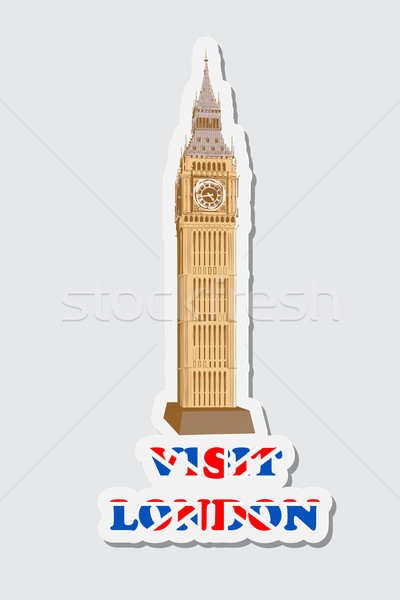 Visit London Sticker Stock photo © vectomart