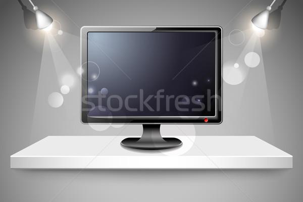 Television on Shelf Stock photo © vectomart