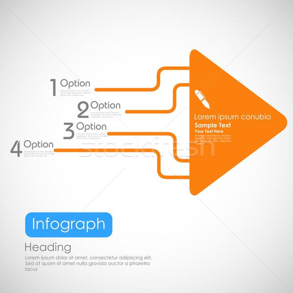 Infográficos opções bandeira ilustração seta apresentação Foto stock © vectomart