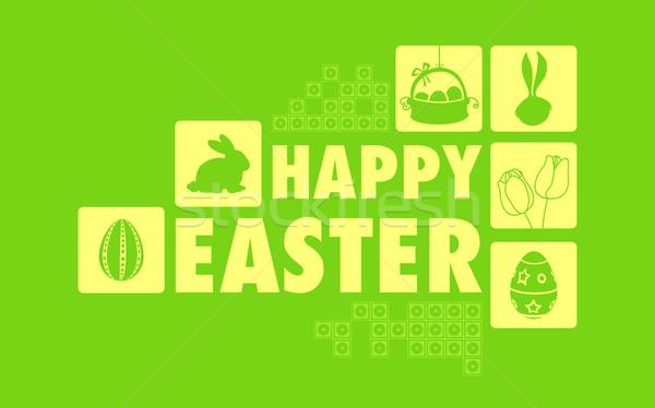 Христос воскрес коллаж иллюстрация весны дизайна весело Сток-фото © vectomart