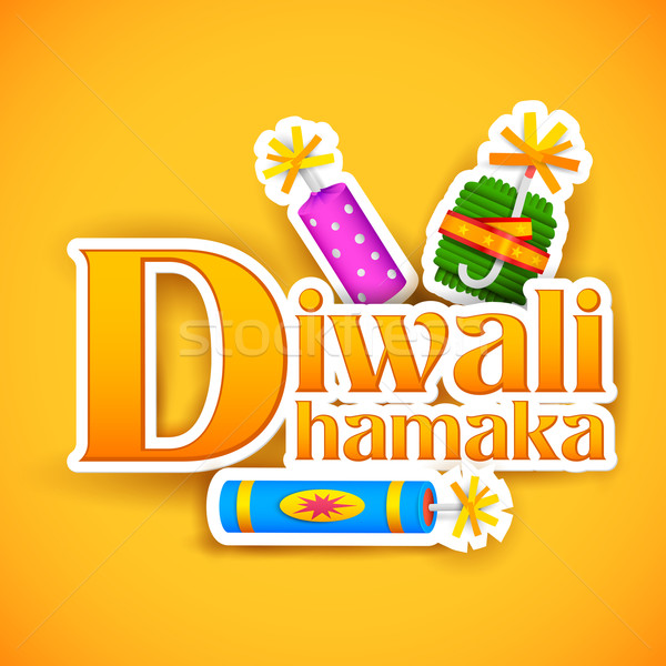 Diwali proposer promotion illustration design Photo stock © vectomart