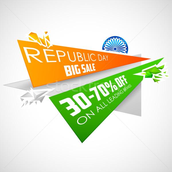 República día India venta banner indio Foto stock © vectomart