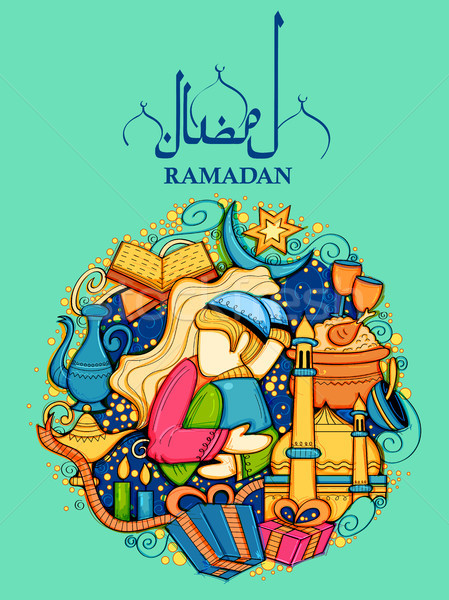 Feliz islão religioso festival mês Foto stock © vectomart