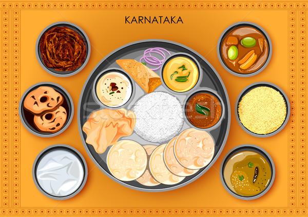 Сток-фото: традиционный · кухня · продовольствие · еды · Индия · иллюстрация