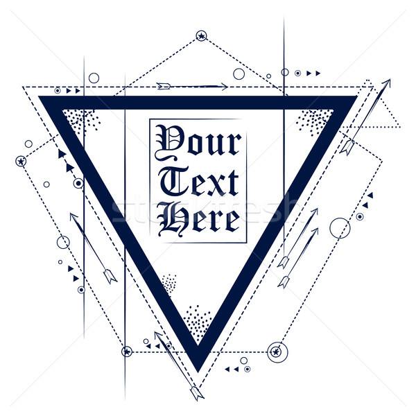 аннотация геометрический треугольник татуировка искусства дизайна Сток-фото © vectomart