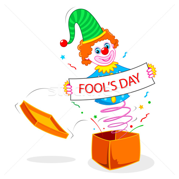 Joker wishing Fool's Day Stock photo © vectomart