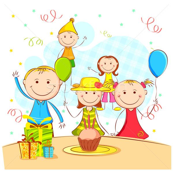Kids Enjoying Party Stock photo © vectomart