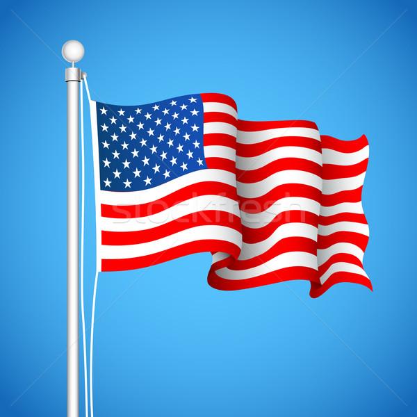 American Flag Stock photo © vectomart