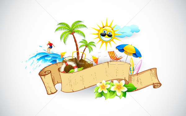 Tropical Banner Stock photo © vectomart