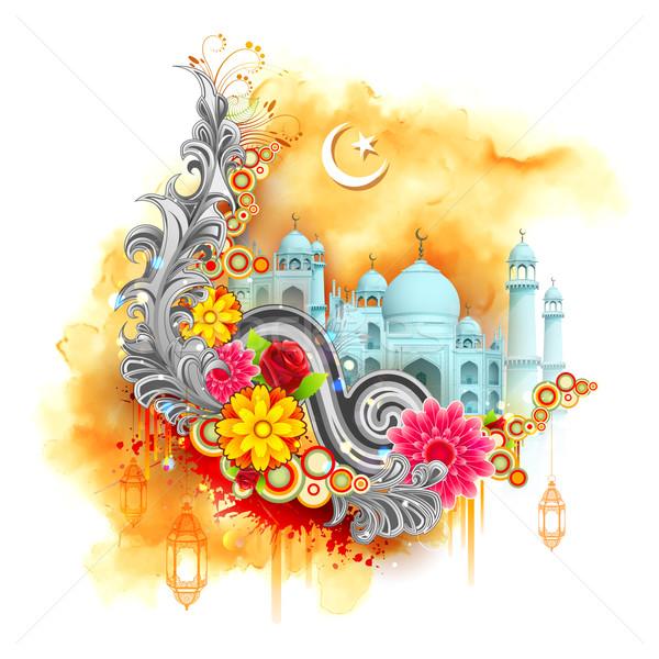 Eid Mubarak background Stock photo © vectomart