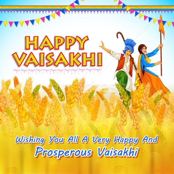 Felice primavera raccolto festival sikh celebrazione Foto d'archivio © vectomart