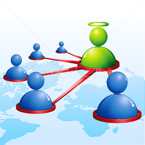Human Networking Stock photo © vectomart