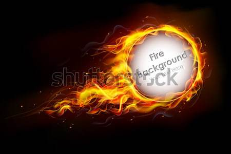 Musical frame illustratie brand vlam Stockfoto © vectomart