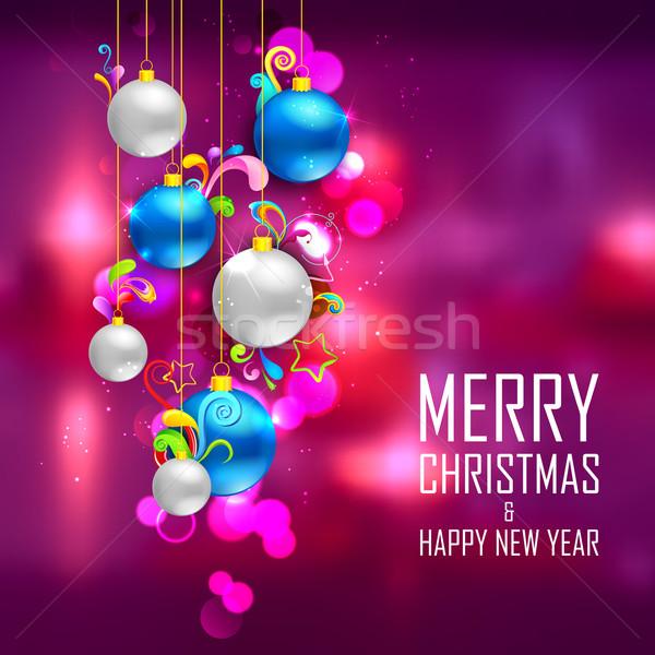 Рождества безделушка аннотация иллюстрация красочный вечеринка Сток-фото © vectomart