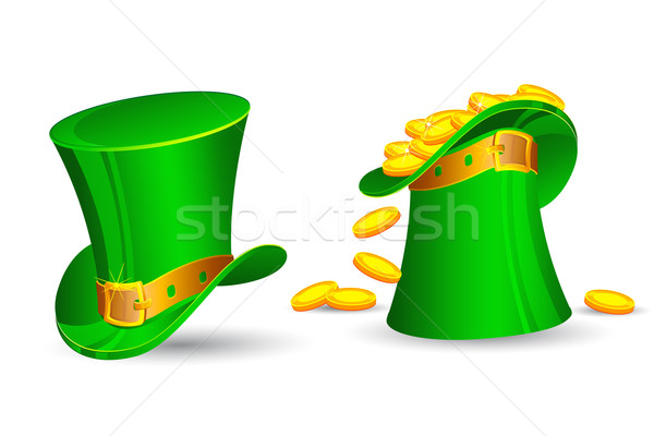Saint Patrick's Hat filled with Gold Coins Stock photo © vectomart