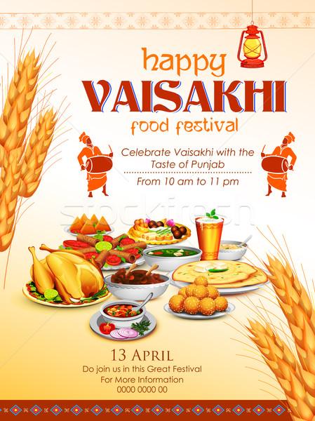 Happy Vaisakhi Punjabi festival celebration background Stock photo © vectomart