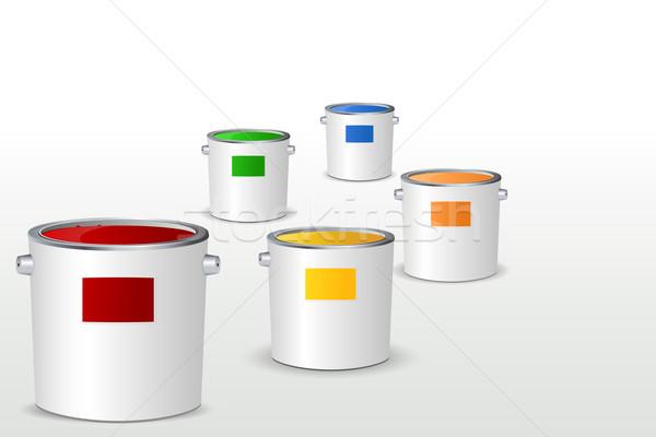 Secchio di vernice illustrazione colorato lavoro design vernice Foto d'archivio © vectomart