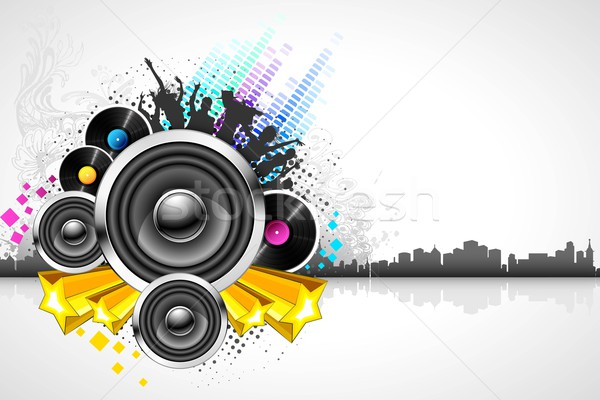 Abstract Musical Background Stock photo © vectomart