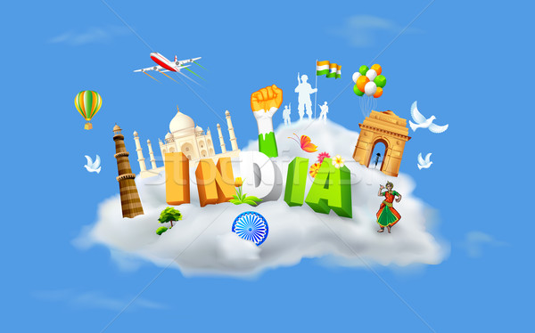 India on Cloud Stock photo © vectomart
