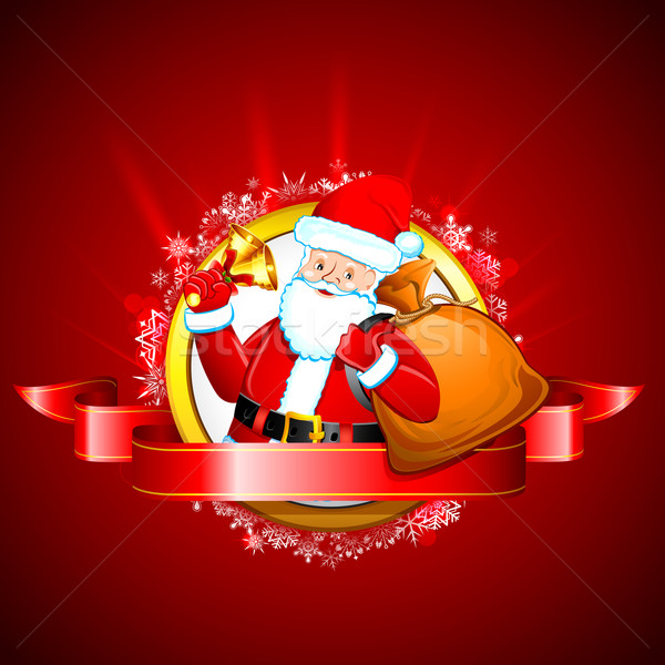 Santa with Jingle Bell Stock photo © vectomart