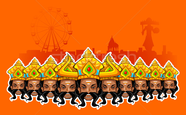 Happy Dussehra Holiday Stock photo © vectomart