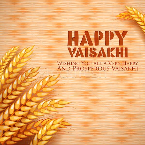 Gelukkig voorjaar oogst festival sikh viering Stockfoto © vectomart