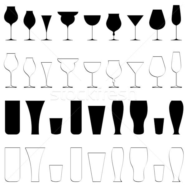 Stock photo: Beverage Glasse