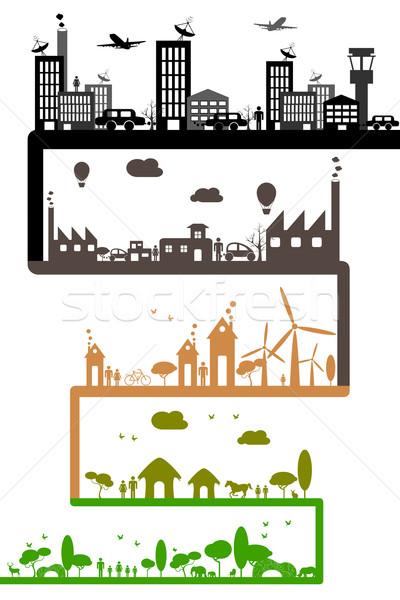 Fejlesztés ipar illusztráció különböző mutat fenntarthatóság Stock fotó © vectomart