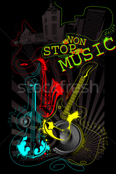 Musical Background Stock photo © vectomart