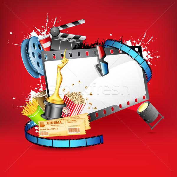 Divertisment ilustrare pop bord afara pelicula Imagine de stoc © vectomart