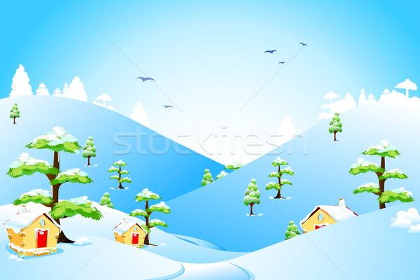 Winter Landscape Stock photo © vectomart