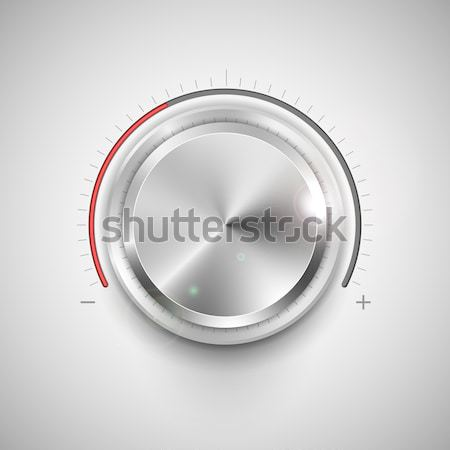 Króm fogantyú illusztráció beállítás zene terv Stock fotó © vectomart