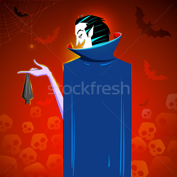Dracula with hanging Bat Stock photo © vectomart