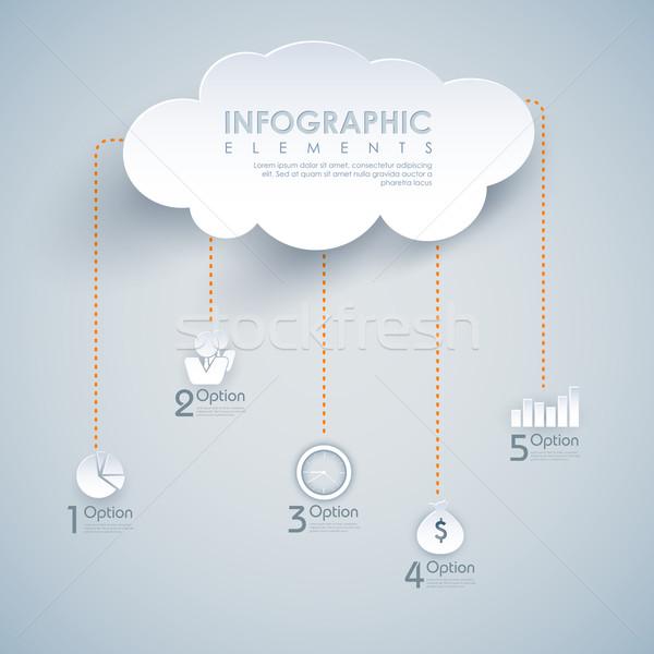 иллюстрация диаграммы интернет фон Сток-фото © vectomart