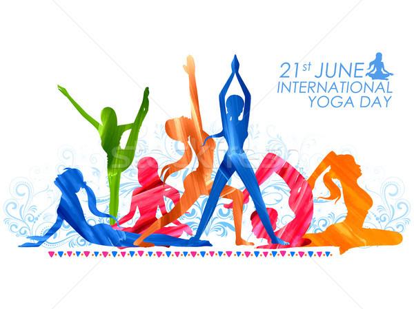International Yoga Day Stock photo © vectomart