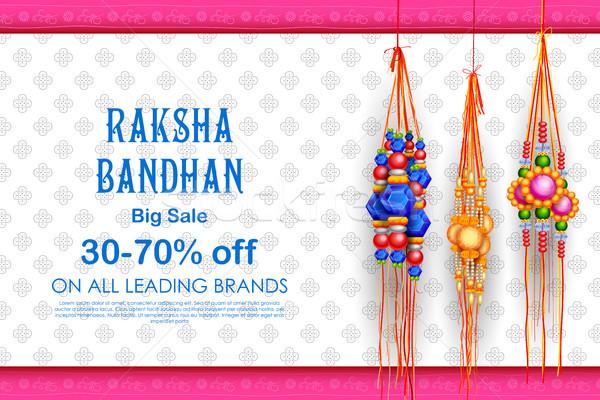 продажи поощрения баннер плакат декоративный индийской Сток-фото © vectomart