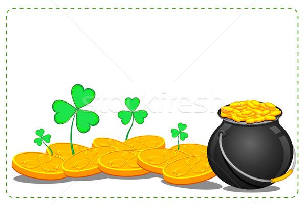 Pot aziz gün örnek yonca Stok fotoğraf © vectomart