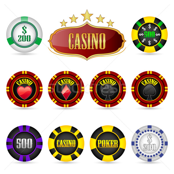 Casino Fiches Stock photo © vectomart