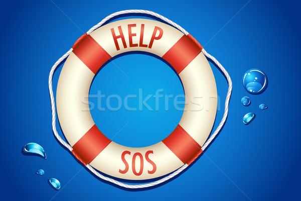 SOS written on Lifebouy Stock photo © vectomart