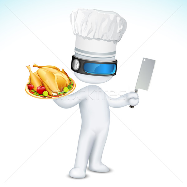 3d Scalable Cook Stock photo © vectomart